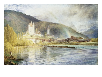 Thun, Switzerland Giclée-Druck