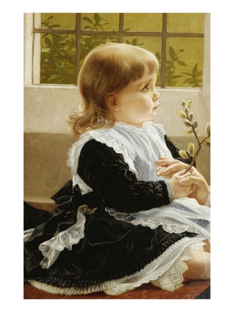 Pussy Willow Premium Giclee Print by George Dunlop Leslie