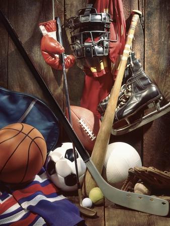 Variety of Sports Equipment Photographic Print by William Whitehurst
