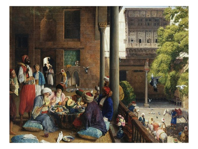 The Midday Meal, Cairo, Egypt Premium Giclee Print by John Frederick Lewis
