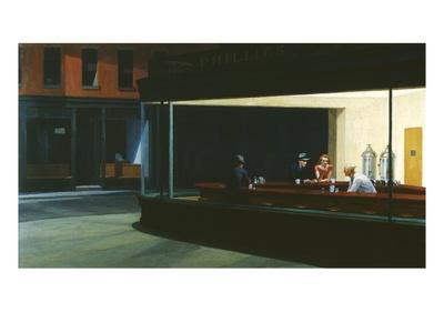 Nachtfalken Giclée-Premiumdruck von Edward Hopper