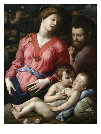 Holy Family with the Young Saint John Lámina giclée por Agnolo Bronzino