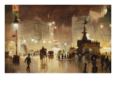 Piccadilly Circus, London Gicléetryck av George Hyde-Pownall