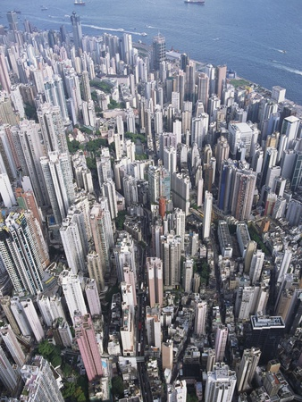 Aerial View of Western District of Hong Kong Photographic Print by Yang Liu