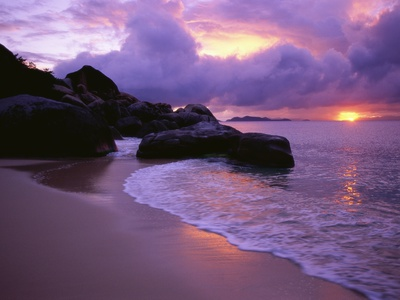 The Baths in Virgin Islands Fotoprint av Nik Wheeler