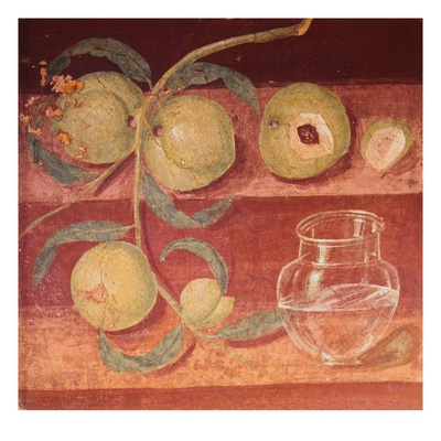 Fresco of Water Pot and Fruit in Pompeii Kitchen Giclee Print
