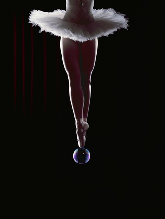 Ballerina Balancing on a Bubble Photographic Print by Charles Smith