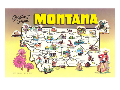 Greetings from Montana Premium Poster