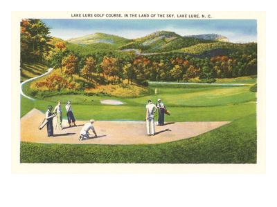 Lake Lure Golf Course, North Carolina Prints