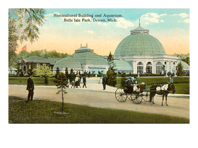 Greenhouse, Belle Isle, Detroit, Michigan Print