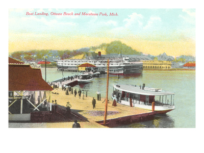 Boat Landing, Macatawa Park, Michigan Posters