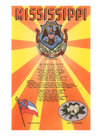 Mississippi Song, Seal, Flag and Flower Prints