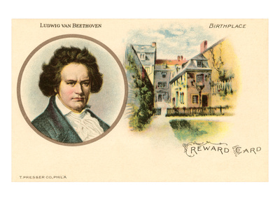 Ludwig van Beethoven and Birthplace Prints