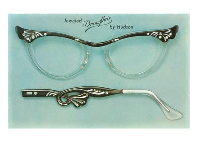 Fancy Eyeglass Frames Póster
