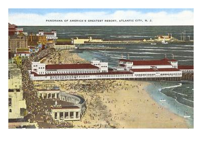 Panorama of Atlantic City, New Jersey Art