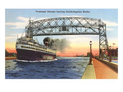 Steamer, Duluth, Superior Harbor, Minnesota Prints