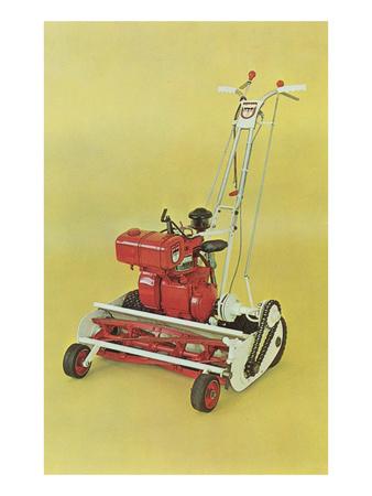 Motorized Lawnmower Posters