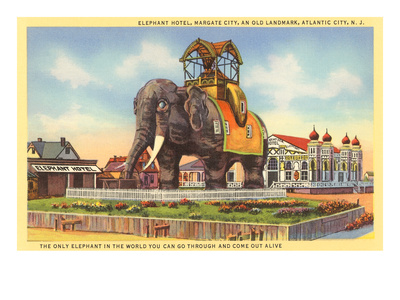 Elephant Hotel, Atlantic City, New Jersey Premium Poster