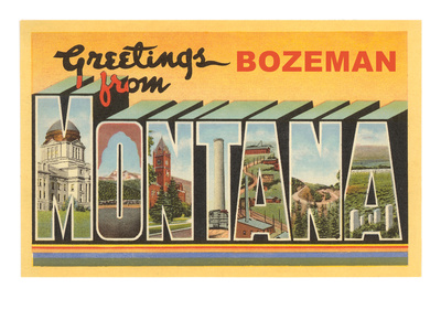 Greetings from Bozeman, Montana Premium Poster