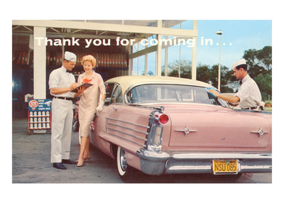 Old Time Service Station Premium Poster