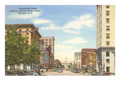 Fayetteville Street, Raleigh, North Carolina Premium Poster