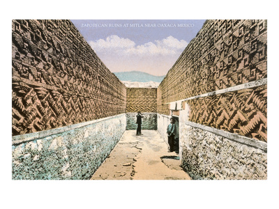 Zapotec-Mixtec Ruins in Mitla, Oaxaca, Mexico Prints