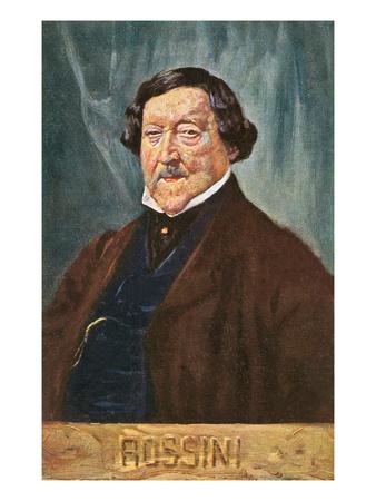Portrait of Rossini Posters