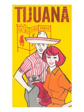 Tijuana Travel Poster with Gringos Prints