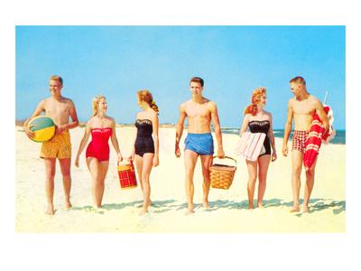Beach Picnic, Retro Láminas