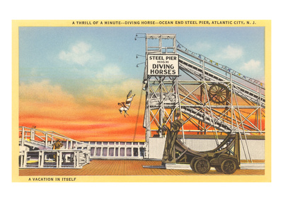 Diving Horse, Atlantic City, New Jersey Posters