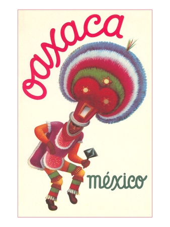 Poster for Oaxaca, Mexico, Folkloric Dancer Art