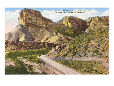 Guadalupe Peak, Carlsbad Caverns, New Mexico Prints