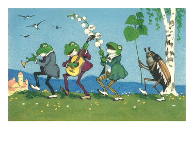 Frog and Beetle Band Prints