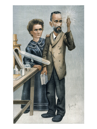 Marie And Pierre Curie Giclée-tryk