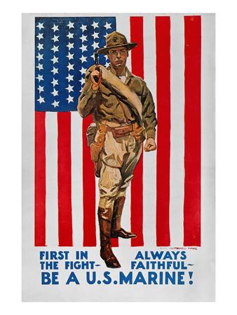 World War I: U.S. Marines Premium Giclee Print by James Montgomery Flagg