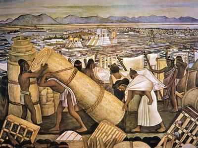 Tenochtitlan (Mexico City) Giclée-tryk af Rivera, Diego