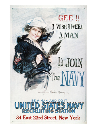 World War I: U.S. Navy Giclée-Premiumdruck von Howard Chandler Christy