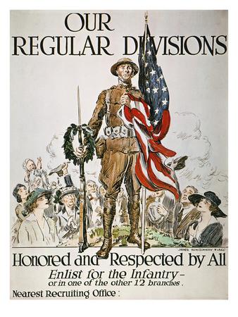 World War I: U.S. Army Premium Giclee Print by James Montgomery Flagg