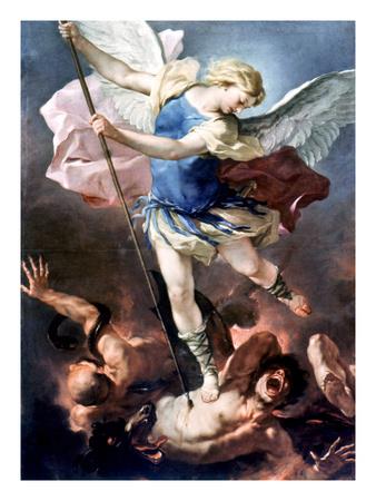 The Archangel Michael Premium Giclee Print by Luca Giordano