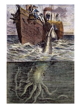 Sea Monster Premium Giclee Print