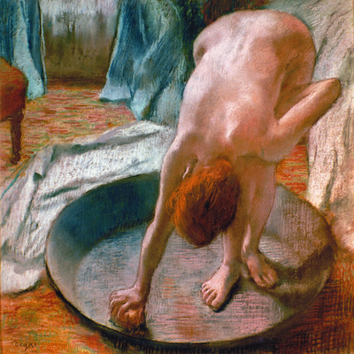 Edgar Degas: The Tub, 1886 Giclee Print by Edgar Degas