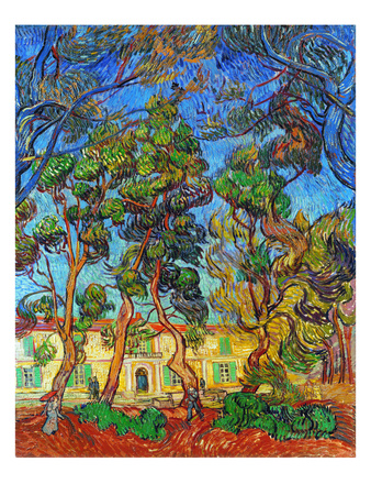 Van Gogh: Hospital, 1889 Premium Giclee Print by Vincent van Gogh
