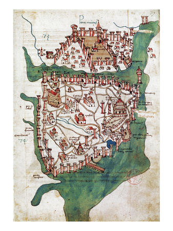 Constantinople, 1420 Premium Giclee Print
