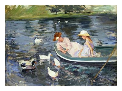 Cassatt: Summertime, 1894 Premium Giclee Print by Mary Cassatt