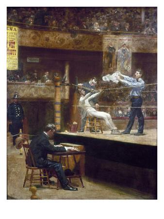 Eakins: Between Rounds Premium Giclee Print by Thomas Cowperthwait Eakins