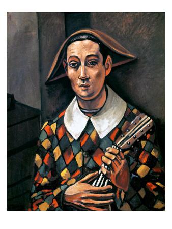 Derain: Harlequin, 1919 Giclee Print by Andre Derain