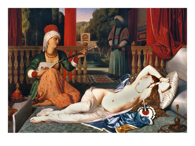 Ingres: Odalisque Premium Giclee Print by Jean-Auguste-Dominique Ingres