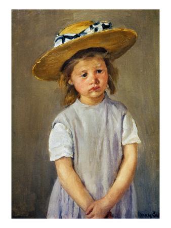 Cassatt: Girl, C1886 Premium Giclee Print by Mary Cassatt