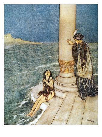 Andersen: Little Mermaid Giclee Print by Edmund Dulac