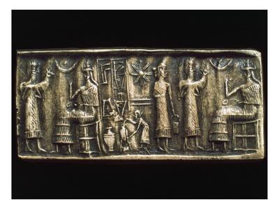 Assyrian Cylindrical Seal Premium Giclee Print